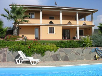 Campo di Alghero villa rental - The villa viewed from the pool