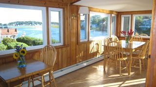 Gloucester - Annisquam house photo - Dining area, seats 8-10 plus breakfast bar stools for 2, waterviews
