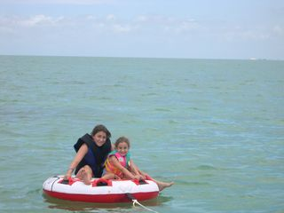 Islamorada house photo - Tubing in florida bay-not a bad way to spend the day...