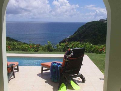 Cap Estate villa rental - Pool Deck View