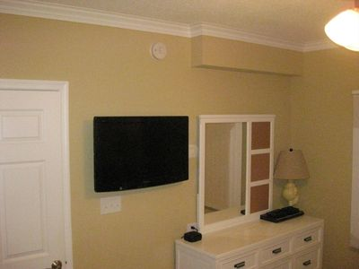 TV and dresser in bedroom 2