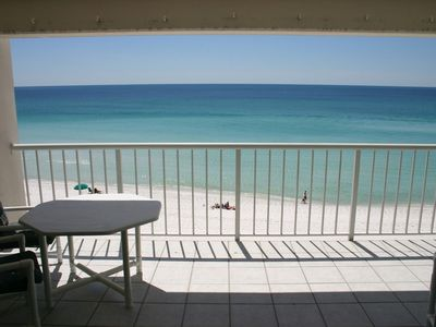 View from living room: low enought to see beach but high enough for privacy