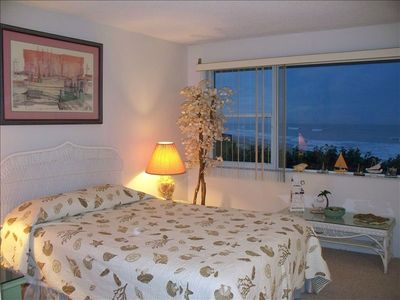 master bedroom- the ocean views are fabulous. Listen to the surf--