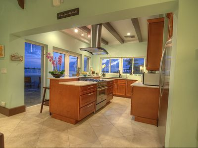 Expansive view of the ocean as you cook on a bertazzoni italian range