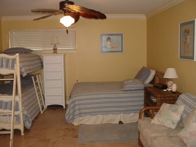 Celadon Beach Resort condo rental - Second bedroom - 2 singles and 1 bunk bed.