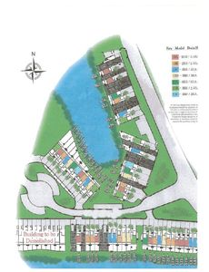 Building draft over location of the waterfront town homes