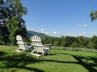 Ascutney farmhouse photo - Pull up a chair. You're on vacation.