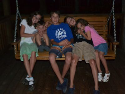 Lake Santeetlah chalet rental - Grands on the deck swing