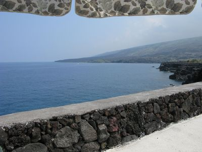 Milolii house rental - Papa Bay from Sea Wall