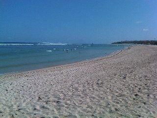 The Beautiful Nusa Dua beach & Lagoon just a short drive from the house.