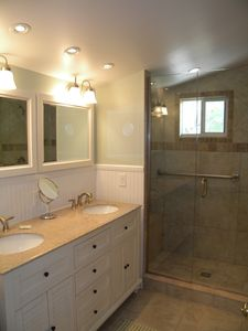 Master Bathroom incl large shower and separate toilet
