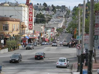 San Francisco apartment photo - Castro St. w/ historic Castro Theater. Vacation rental 1 block from top of hill