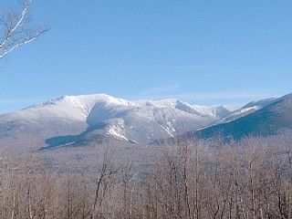 Franconia house rental - View from deck of Franconia Notch