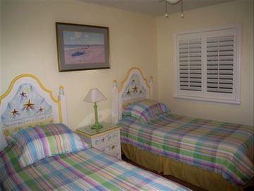 Guest Room-Two Twin Beds-New Custom Shutters