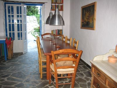 Kalamata house rental - dining room upper house