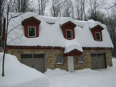 Winter is cozy at 'the Barn' drive plowed as needed, entrance not too steep.