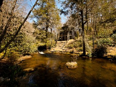 Refreshing water sounds from the roaring shoals of Big Creek!!