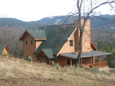Custom Cabin with Spectacular Views and Separate Little Cabin Offering, too!