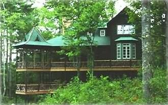 Cashiers house rental - Treetop exterior view