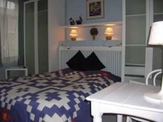 blue sleeping room