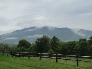 Ascutney farmhouse photo - Misty morning view