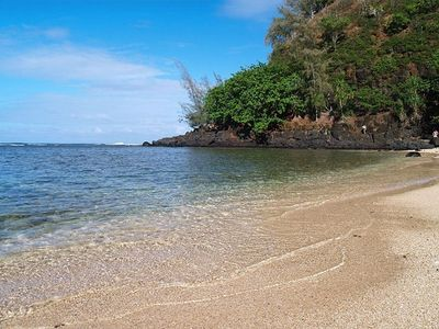 Sealodge Beach. One block away and down a path take you to this secluded spot.