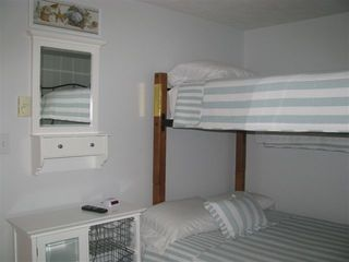Interlochen cottage photo - Bedroom 1 with full bottom, twin top bunk