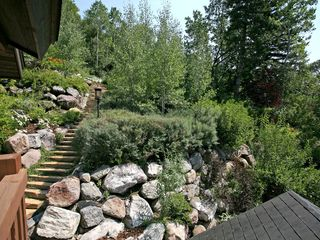 Sundance cabin photo - Stone path to hot tub and gazebo