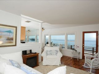 Malibu apartment photo - Living room of beach cottage with hard wood floors throughout