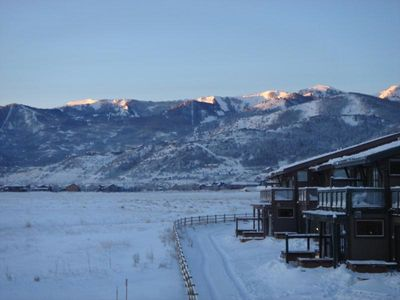 Incredible views of all 3 Park City Area Ski Resorts.  This is The Canyon's!