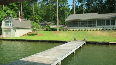 View of Lake House, Boat House, and Grill Room