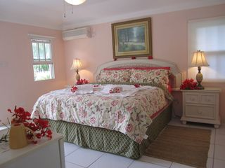 "Cap Estate villa photo - Beautiful King-size ""Honeymoon"" Bedroom/Bathroom Suite in the Cottage"