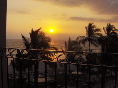 Another beautify sunset from our balcony