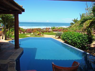 Relax by the Inifinity pool with views of the Pacific Ocean