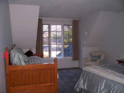 Laconia condo rental - Large second floor Bedroom with Queen and Twin Trundle