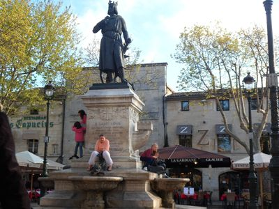 Statue St Louis, The Square, Aigues Mortes