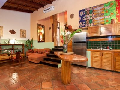 Living and Kitchen Areas at Casa Azul