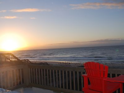 North Topsail Beach house rental - Start your day with a cup of coffee on the upper deck at sunrise!