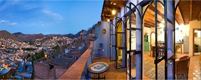 Panoramic View of Mountains and City at Dusk, Terrace, Great Room