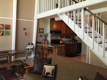 Groveland cabin rental - 20' Ceiling open concept with loft