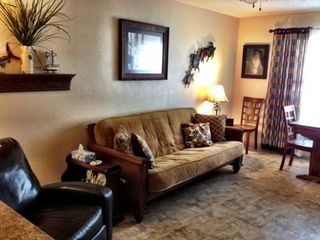 South Padre Island condo photo - LIVING AREA WITH FUTON SOFA BED
