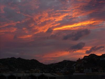 View of a beautiful Cabo Sunset from your Terrace