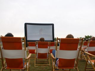Port Aransas condo photo - Screen on the Green - summer movies on the Great Lawn