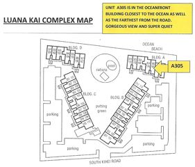 Kihei condo photo - Map showing you exact location of Ocean front unit with A/C