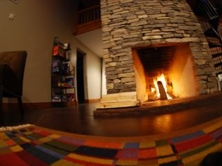 Grayling cottage photo - Rumford Fireplace
