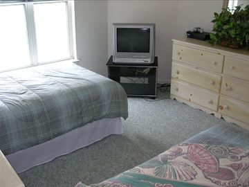 Upstairs Bedroom 2 Twin Beds VCR and Sony Playstation for the Kids