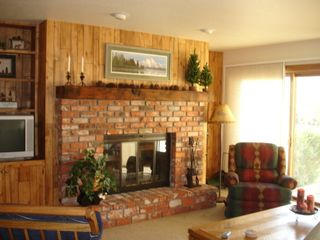 Avon condo photo - fireplace wall, aspenwood paneling