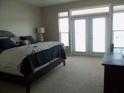Large Master Bedroom with private balcony overlooking the Gulf of Mexico