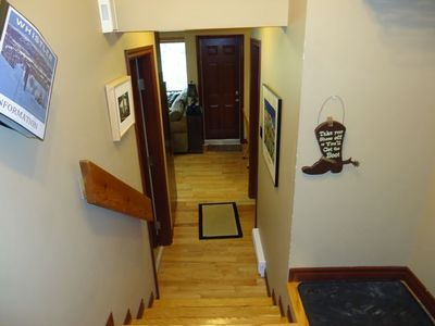 Entrance from mud room to living area