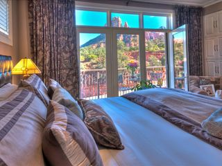 Sedona villa photo - King-bedded Master Bedroom With Secure, Private Balcony